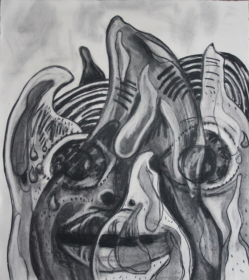 Hot as fire. Charcoal on paper. 70x80cm. 2016