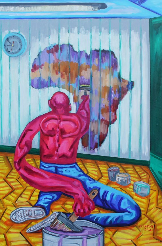 Painting Africa. Oil on canvas. 100x150cm. 2013