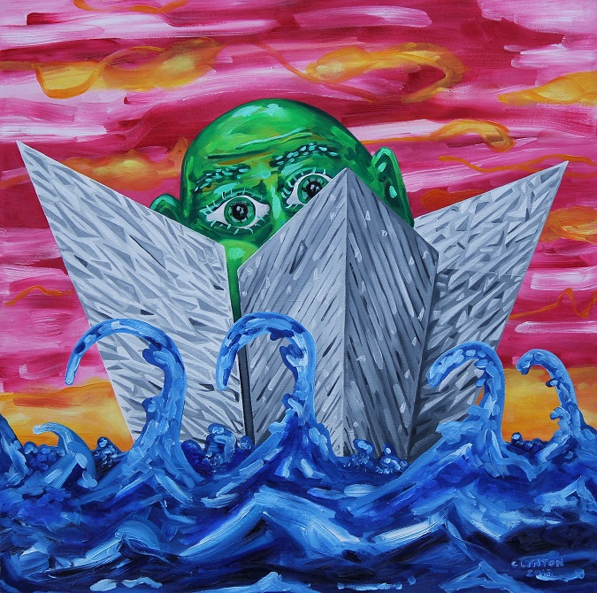 Titanic Sailing. Oil on canvas. 80x80cm. 2014