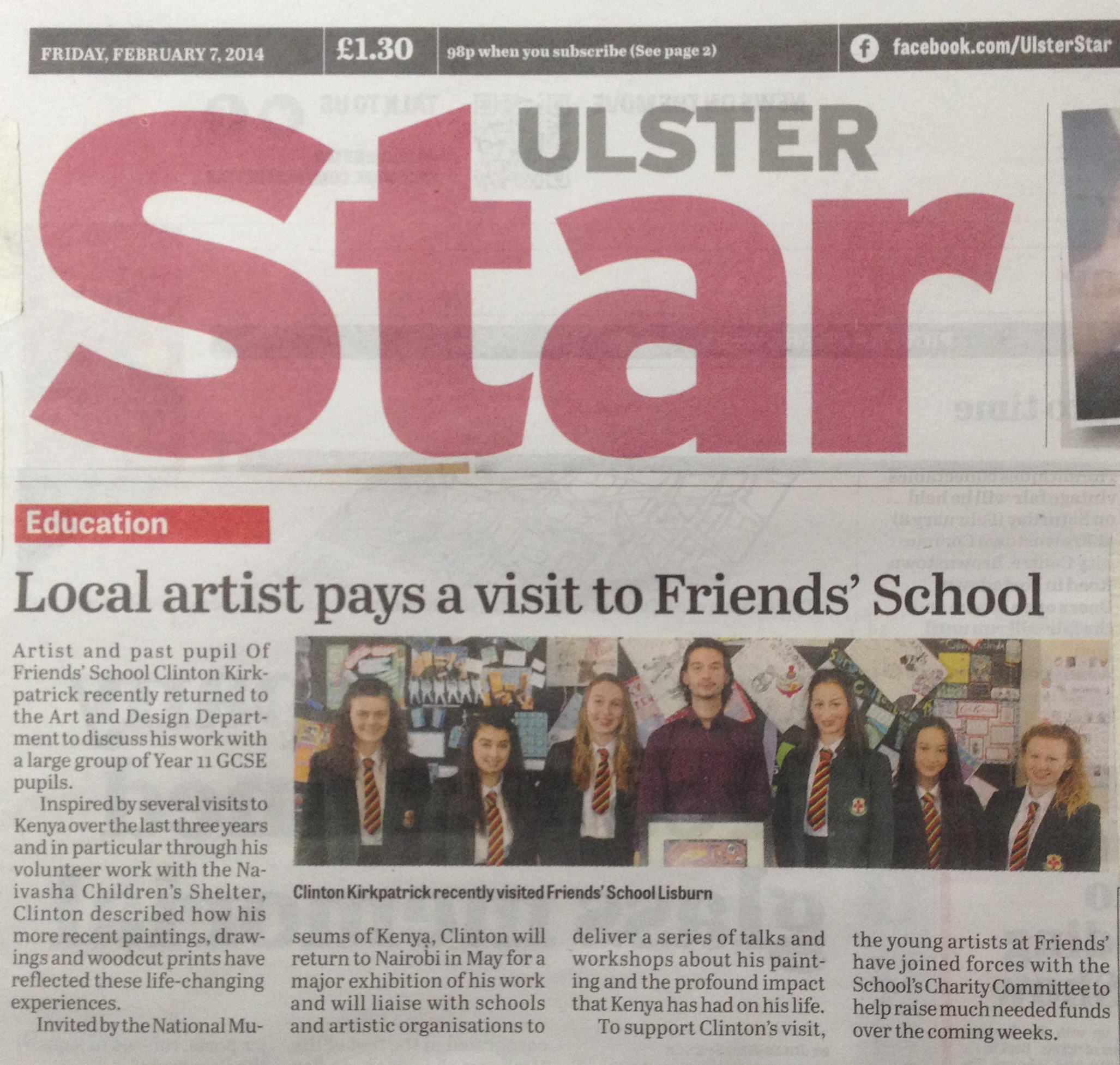 Ulster star. 7 Feb 2014