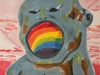 Rainbow Mouth. Monotype. 66x96cm. 2015