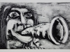 Speakerphone mouth. Monotype. 2014